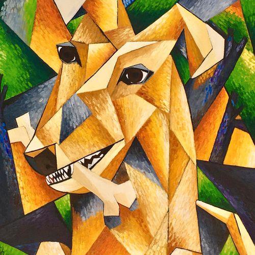 """ARVIN Philippe """"Le Chien"""" Huile sur toile 92 x 73 cm encadrée 98 x 79 cm signée …"""