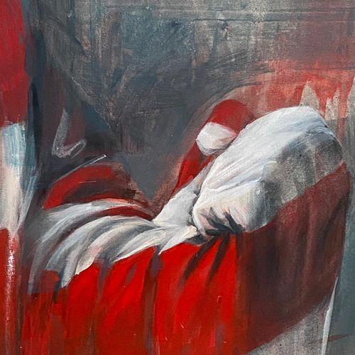 """DELAGACHETTE """"Blindness""""  Acrylique sur toile  Format 120 x 150 x 4 cm  Signé au…"""