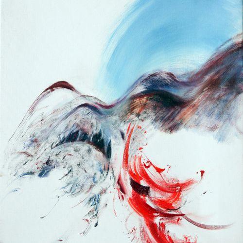"BERRARD Mireille ""Harold en Italie de Berlioz""  Acrylique sur toile 46 x 38 cm s…"