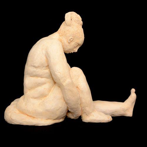 """FAURE/WISMAN France """"Gracieuse"""" Sculpture en Grès  Patine Ivoire Haut : 24 cm la…"""