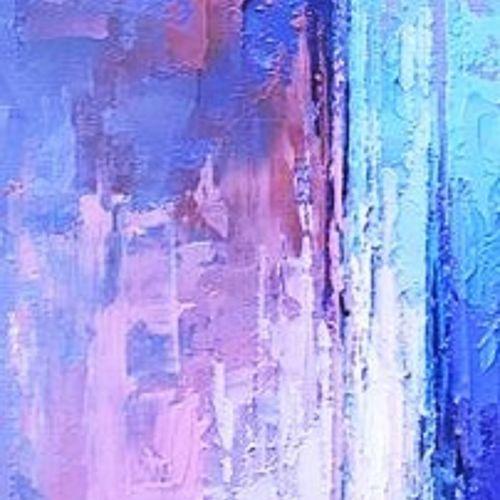 """CHRIS """"Au Cœur du Silence 29"""" Acrylique réalisée à la brosse et au couteau 60 x …"""