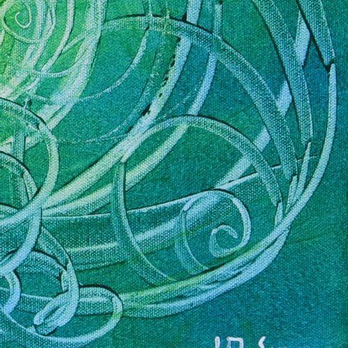 """A.SEGAY JM """"Freedom 2"""" Acrylique sur toile 40 x 40 cm signée.    Frais de transp…"""