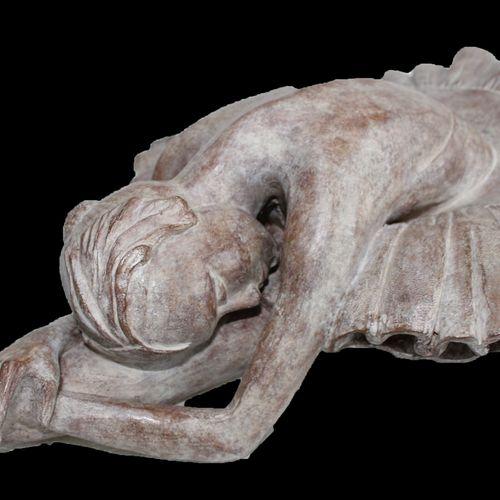 """CANTIN Josiane """"Le Cygne"""" Bronze réalisé fondeur d'art de Blain(44) H : 38 cm L …"""