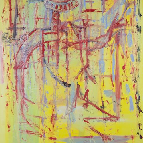 """AZNAR Efisio """"Bishop"""" Huile sur toile 80 x 116 cm signée.    Frais de transports…"""