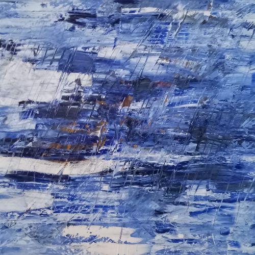 """AYBAR Angelo """"Nitescence"""" Huile sur toile 60 x 80 cm signée.    Frais de transpo…"""