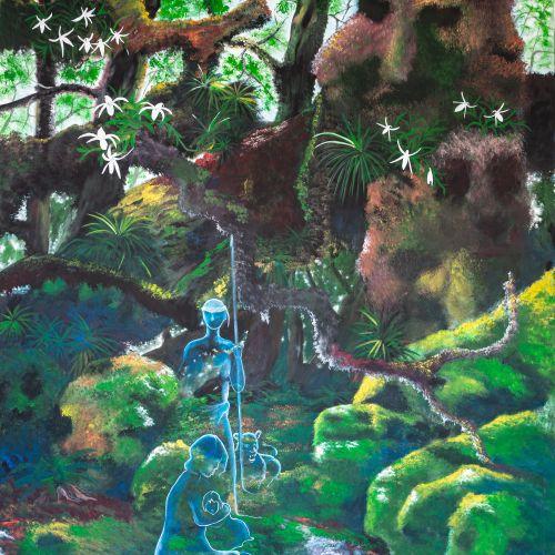"""BOYER """"BELOVA, notre héritage"""" Acrylique sur toile 146 x 114 cm signée.    Frais…"""