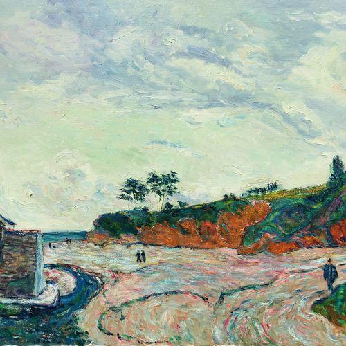 """CHOPARD Sylvain """"Pointe de Douarnenez """" Huile sur toile 50 x 61 cm encadrée 62 x…"""