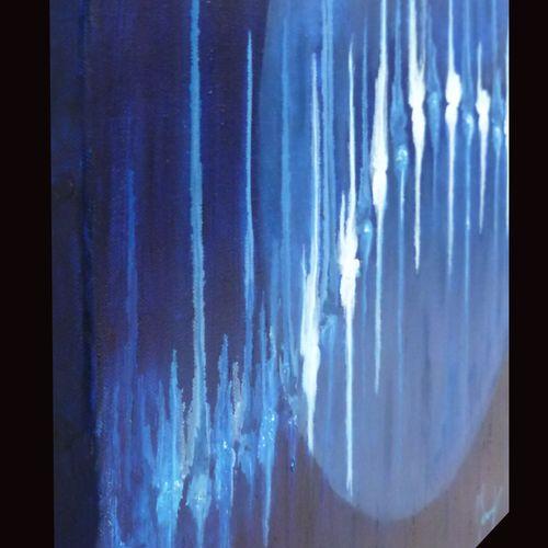 """BONNET Myriam """"Une part de vérité"""" Huile sur toile 40 x 40 cm signée en bas à dr…"""