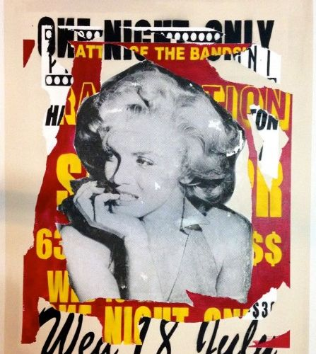 """CHAFRAIX Jean Olivier """"Marilyn"""" Acrylique et Aérosol sur toile 130 x 97 cm signé…"""