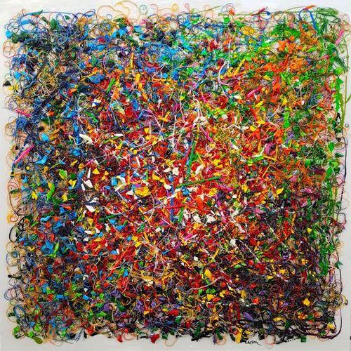 CARSON Charles (1957) L'automne vu à vol d'oiseau Mosaïque en mouvement, techniq…