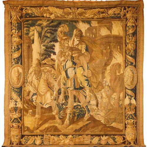 Tapisserie en laine et lin de la deuxième moitié du 17ème siècle figurant la fui…
