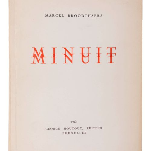 (Broodthaers) Marcel Broodthaers, Minuit. Poème avec une illustration de Serge V…