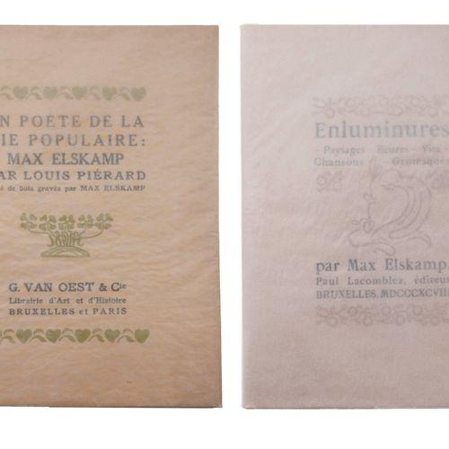 (Elskamp) Max Elskamp, Illuminations. Brussels, Paul Lacomblez, 1898. In 8°. 97 …