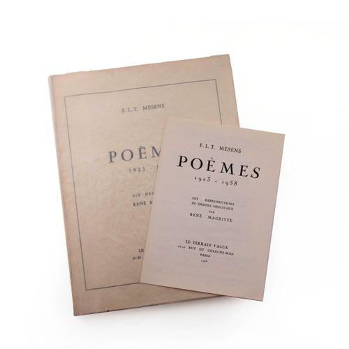 (Magritte) E.L.T. Mesens, Poems 1923 1958. Ten drawings by René Magritte. Paris,…