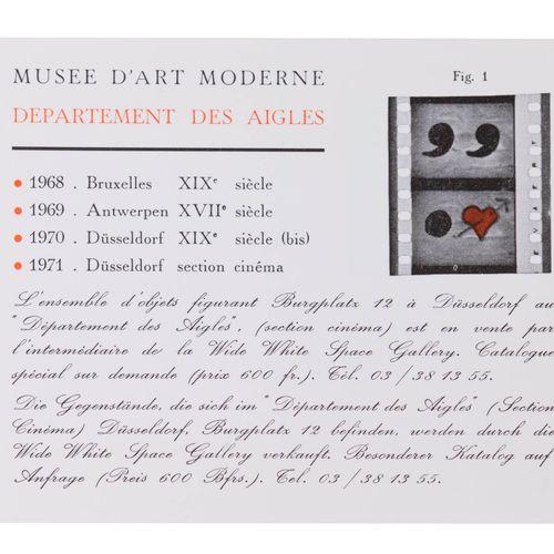 (Broodthaers) Musée d'art moderne. Département des Aigles. De objekten die zich …