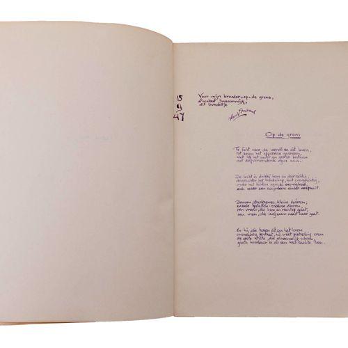 (Andreus) Hans Andreus, 'Verzen voor J.'. Orig. Manuscript. 12 bladen in 8°. Paa…