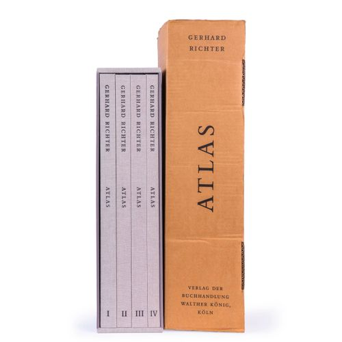 (Richter) Gerhard Richter, Atlas. Cologne, Walther König, 2015. Four vol. Large …