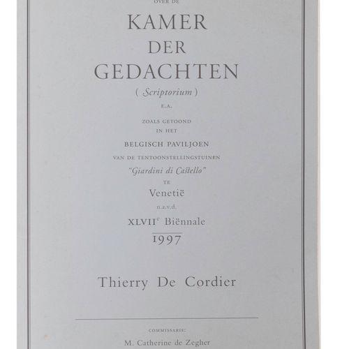 (De Cordier) Thierry de Cordier, Over de Kamer der Gedachten (Scriptorium)/ E.A.…