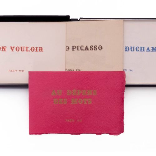 (Picasso/ Duchamp/ Hugo) Georges Hugnet, Non vouloir. Pablo Picasso. Marcel Duch…