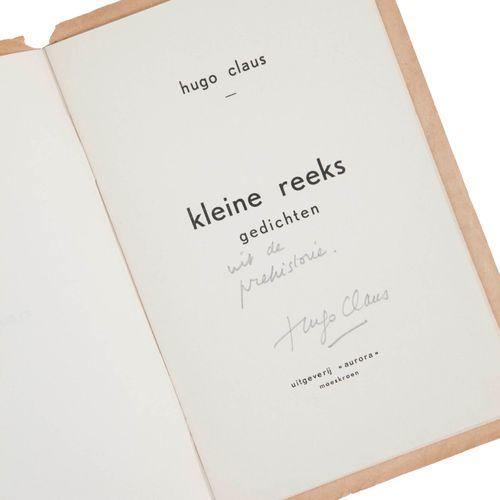 "(Claus), Hugo Claus, Kleine Reeks. Gedichten. Moeskroen, Uitgeverij ""Aurora"", (1…"