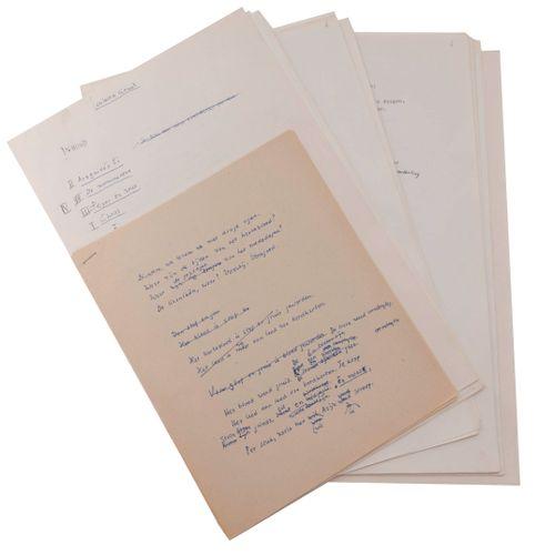(Komrij) Gerrit Komrij, Gesloten Circuit. Orig. Manuscript en typoscript. Volled…
