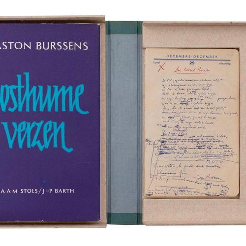 (Burssens) Gaston Burssens, Posthume Verzen. Orig. Werkhandschrift (onvolledig).…