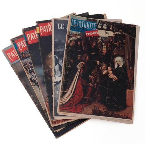 (Broodthaers) Le Patriote illustré. Bruxelles, 1957 1960. Complete set of six is…