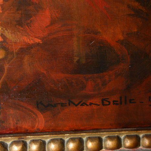 """VAN BELLE Karel (1884 1959)  """" La fête des fleurs""""  Huile sur toile signée bas d…"""