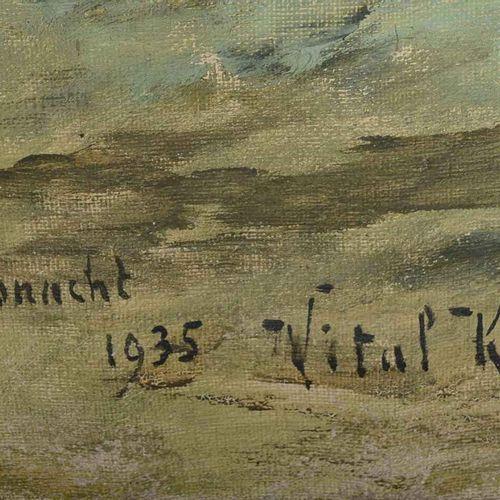 """KEULLER Vital (Lille 1866 Schaerbeek 1945)  """" Küssnacht, bord du lac, couronne à…"""