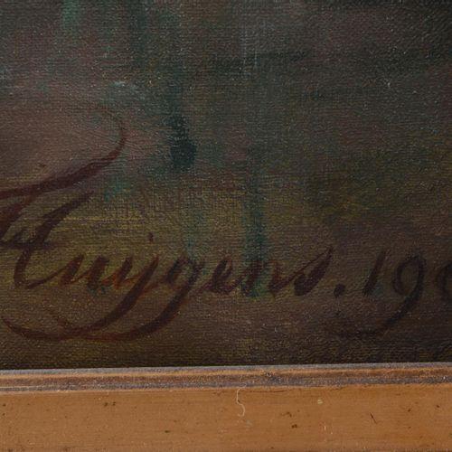 """HUYGENS François Joseph (1820 1908)  """" Bouquet fleuri""""  Huile sur toile signée e…"""