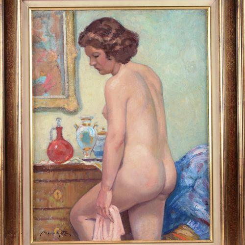 """MARTIN Alfred (1888 1950)  """"Nu de dos""""  Huile sur toile signée en bas à gauche  …"""