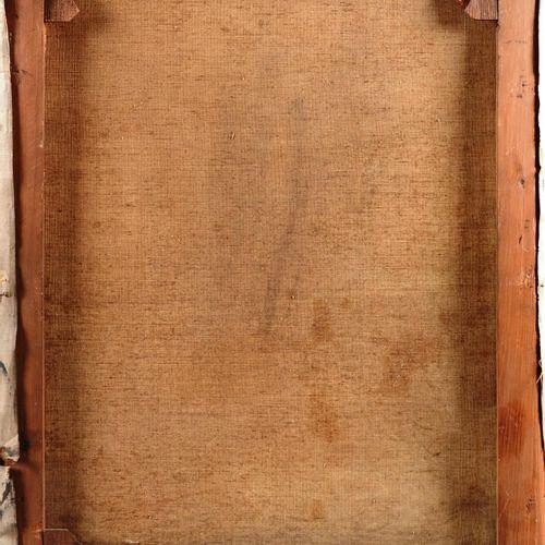 """SCHOUTEN Henry (1857/64 1927)  """" Bergère et son troupeau""""  Huile sur toile signé…"""
