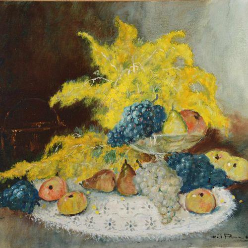 """PAUWELS Henri Joseph (1903 1983)  """" Nature morte aux fruits""""  Huile sur toile si…"""