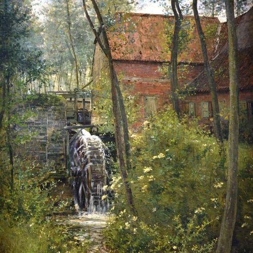 """WYTSMAN Rodolphe Paul (1860 1927)  """" Le Moulin""""  Huile sur toile signée en bas à…"""