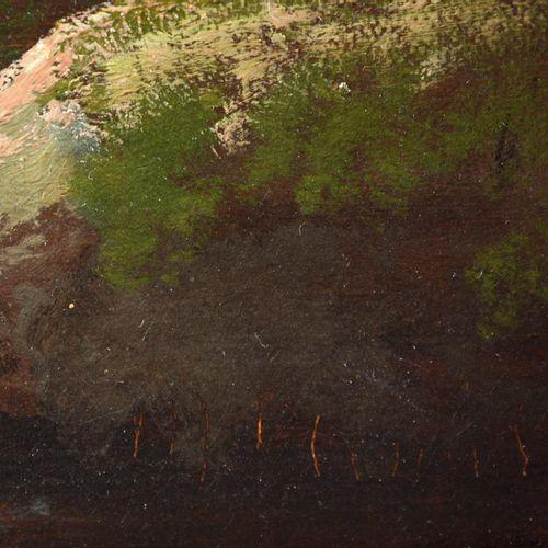 """MARINUS Ferdinand (Anvers 1808 Namur 1890), """" Personnages et vaches en sous bois…"""