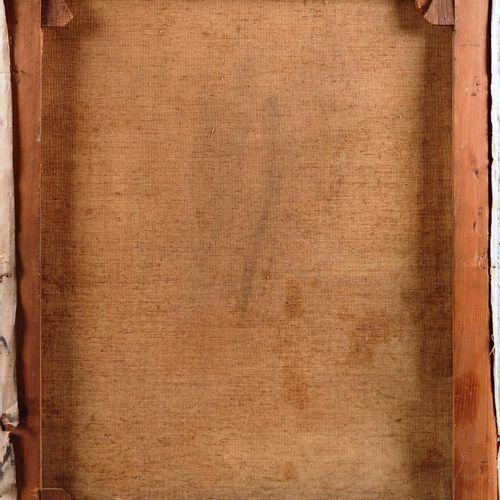 """Ecole Belge.  """" Portrait de Dame""""  Huile sur toile non signée.  Dimensions : 51 …"""