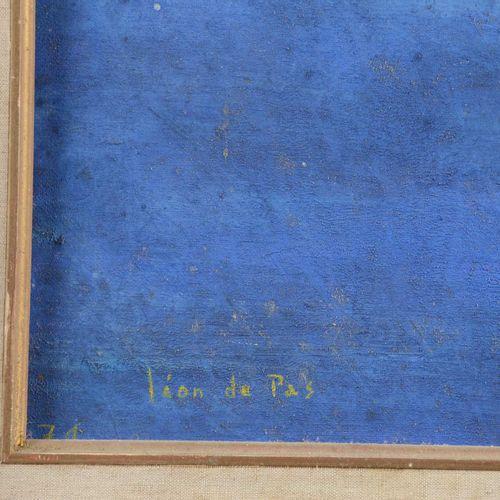 """DE PAS Léon (XX)  """" Danseuse""""  Huile sur toile signée en bas à gauche et datée d…"""