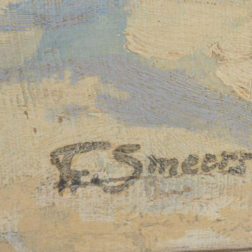 """SMEERS Frans (1873 1960)  """" Paysage enneigé""""  Huile sur toile signée en bas à dr…"""