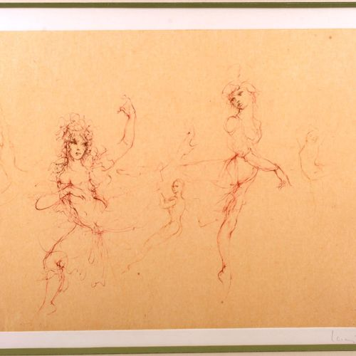 """FINI Leonor (1907 1996)  """"Ballet""""  Print signed and numbered 119/150  Size : 33 …"""