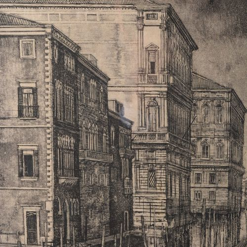 """CIRY Michel (1919 2018)  """"View of Venice"""".  Print signed lower right in pencil. …"""