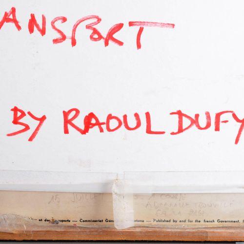 """DUFY Raoul (after) """"Pour le centenaire des courses Deauville Trouville 1863 1963…"""