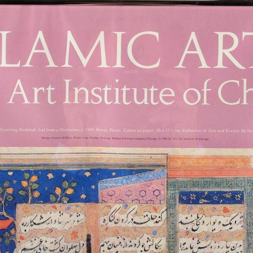 "Poster ""Islamic Arts in the Art Institute of Chicago"".  Framed under glass.  Siz…"