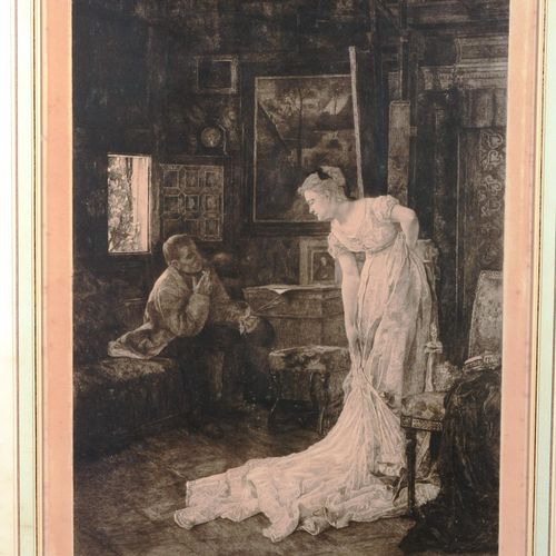 "DANSE Louise (1865 1948)  ""The painter's studio"".  Print signed lower right, N°8…"