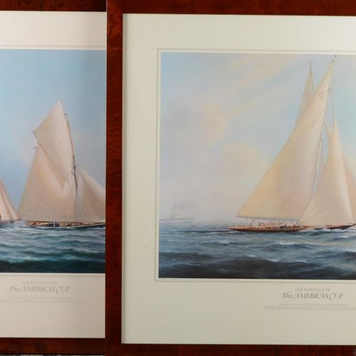 The Paintings of the America's Cup.  Pair of lithographs published by Ashcombe F…
