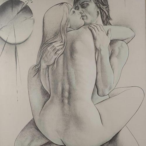 "TREMOIS Pierre Yves (1921 2020)  ""Couple""  Poster.  Size : 75 cm x 60 cm"