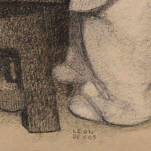 """DEVOS Léon (1897 1974)  """"Girl"""".  Lithography.  Size : 47 cm x 40 cm"""