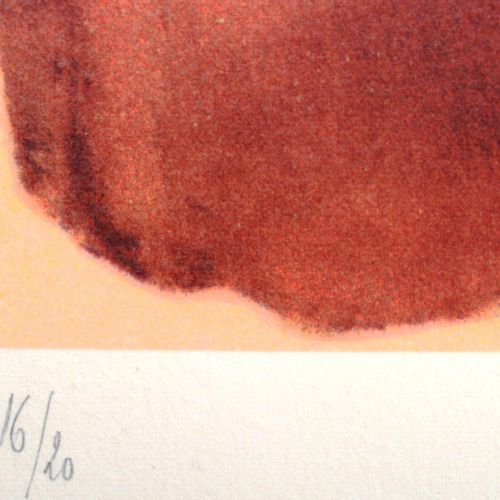 "MARA Pol (1920 1998)  "" Automobile""  Lithograph signed at the bottom right. E.C.…"