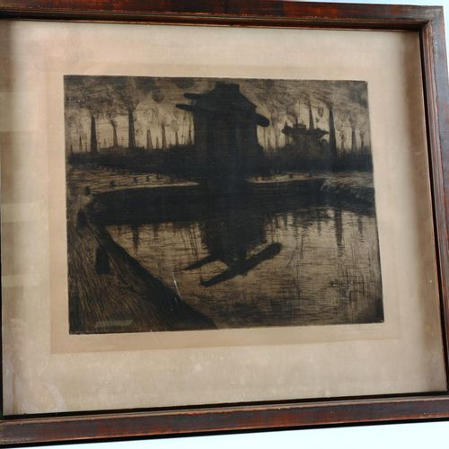 "PAULUS du Chatelet Pierre (1881 1959)  ""The Lock"".  Etching, artist's proof sign…"