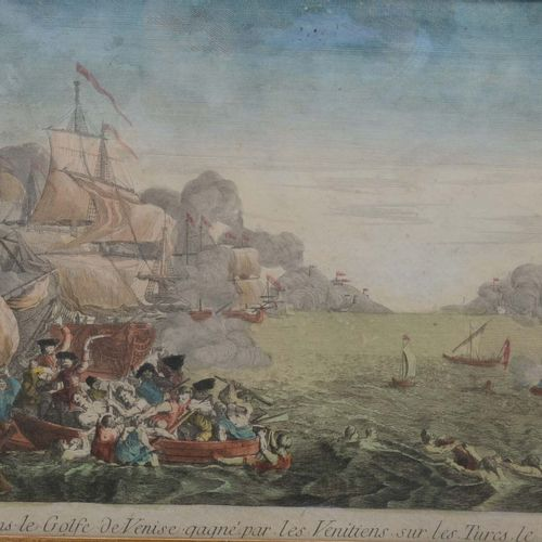 """Naval combat in the Gulf of Venice by the Venetians on the Turks on May 20th 17…"
