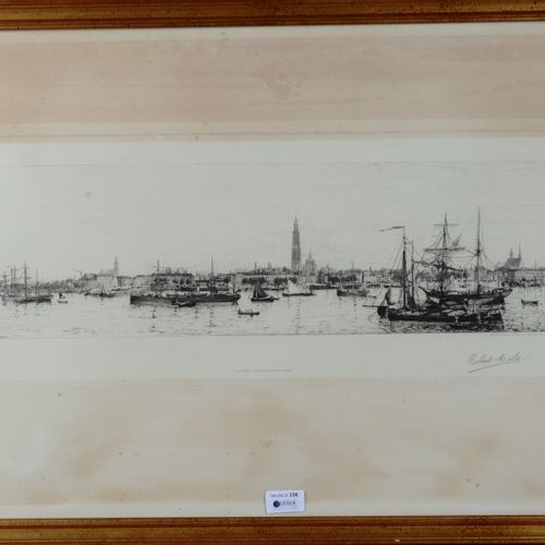 """MOLS, Robert Charles G. (1848 1903)  """"Antwerp""""  Lithograph signed lower right . …"""
